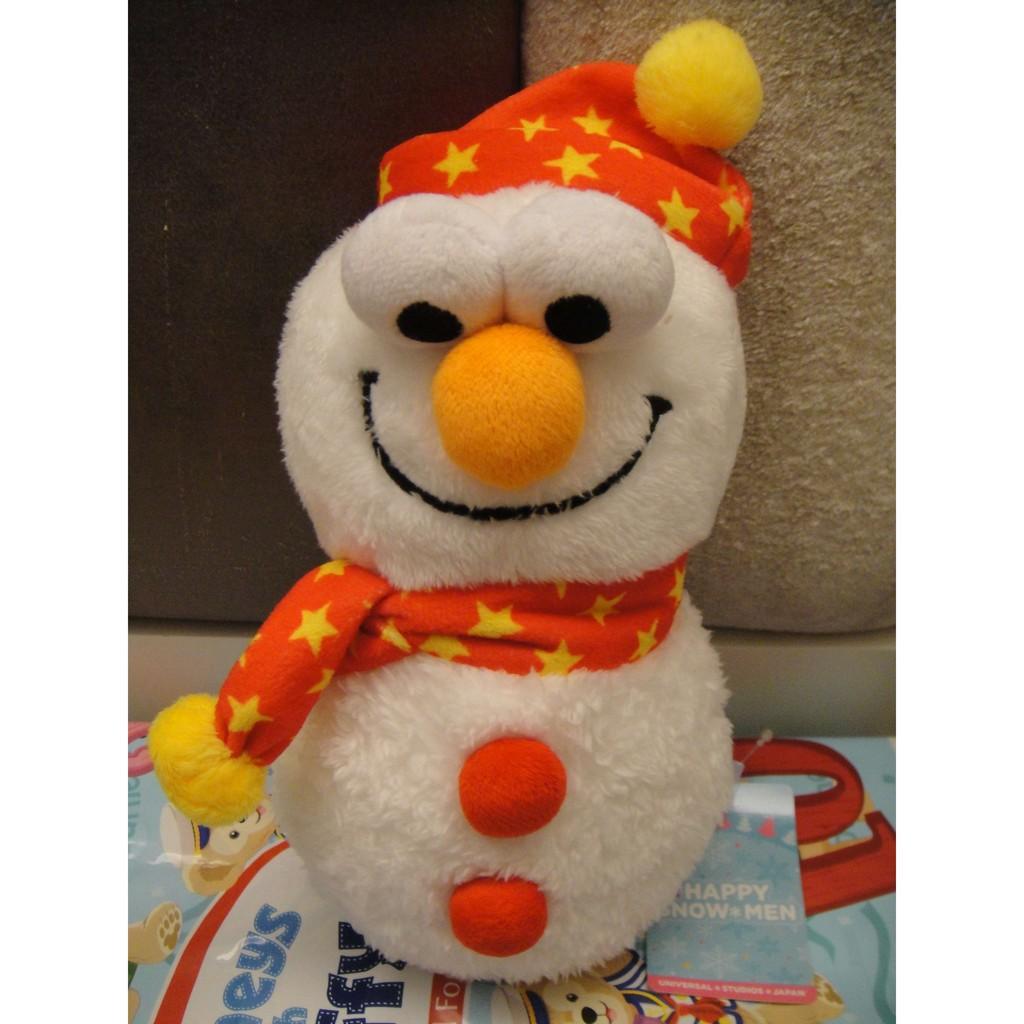 ✨ 大阪環球影城限定✨ELMO 雪人 玩偶高約30 公分西門町可面交