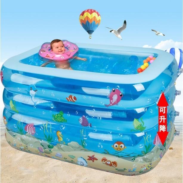 阿琪商城嬰兒遊泳池加高加厚保溫寶寶戲水池超大號家庭幼兒童充氣泳池