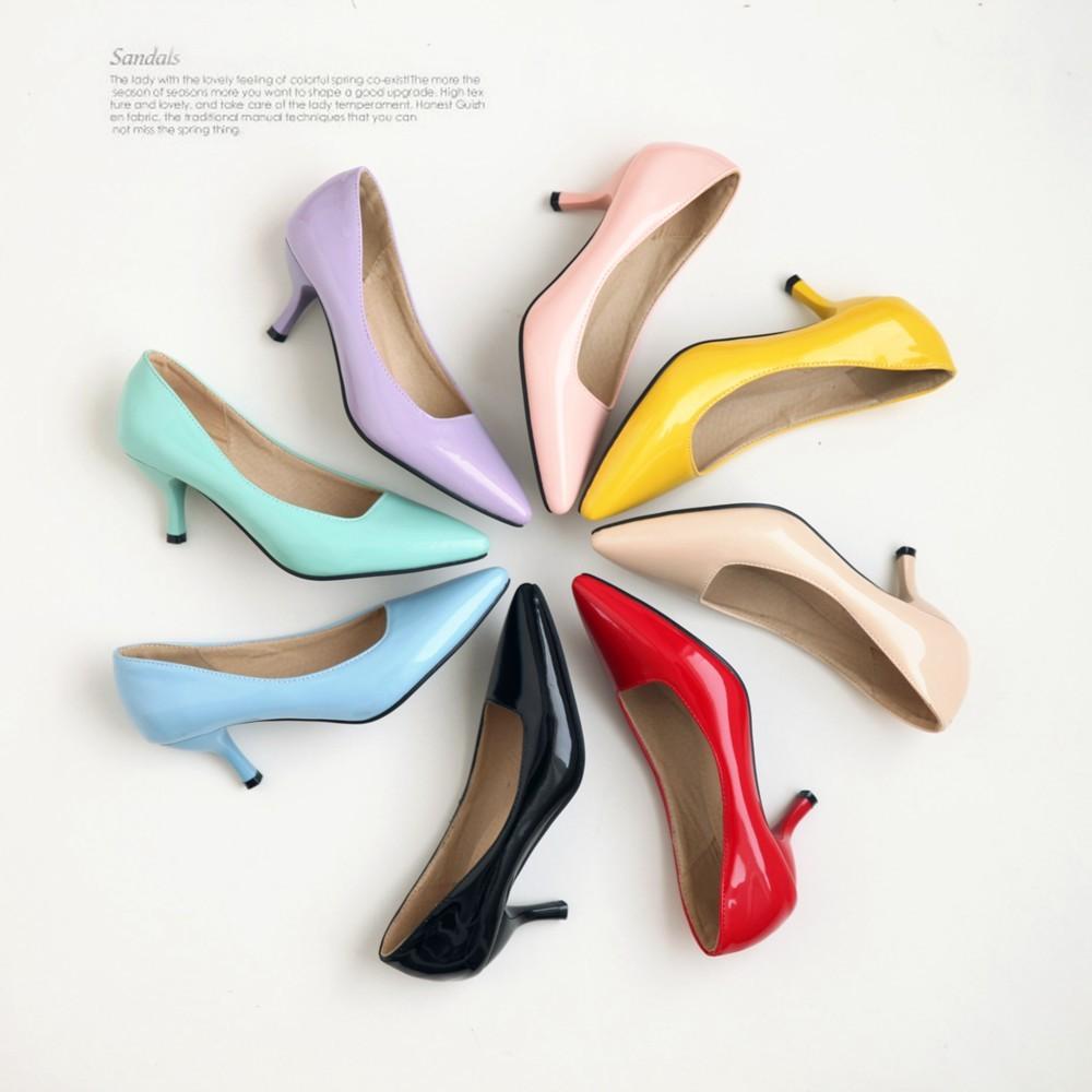 ~鞋館Shoes hall ~~A12645 ~微光春日粉彩素面尖頭百搭高跟鞋8 色可訂做
