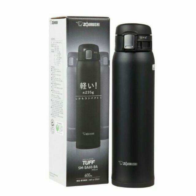 ZOJIRUSHI SM SA60 象印保溫瓶黑色款600cc 輕量化ONE TOUCH
