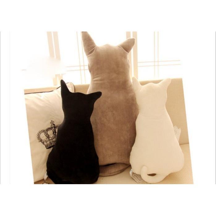 ~雯雯館~ 可愛剪影貓咪靠墊背影貓抱枕毛絨貓倒影靠枕生日 ~午安枕靠枕~