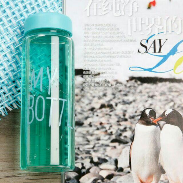 挑戰最 韓國 MY BOTTLE 印花 玻璃水瓶500ml