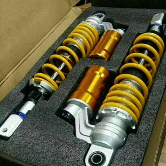 類O 仿O 養樂多軟硬可調阻尼可調直瓶氮氣後避震器320 MM 340MM 勁戰新勁戰 勁