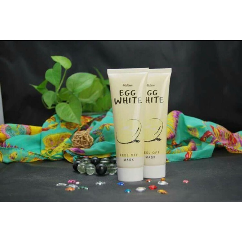 mistine 雞蛋撕拉式剝離面膜85ML 美白肌膚、收緊毛孔、减少黑頭、减少粉刺洗完臉後