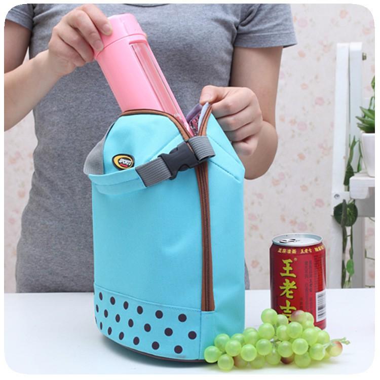 加厚保鮮冰袋保溫便當包午餐飯盒袋便攜手拎冰包波點奶瓶包