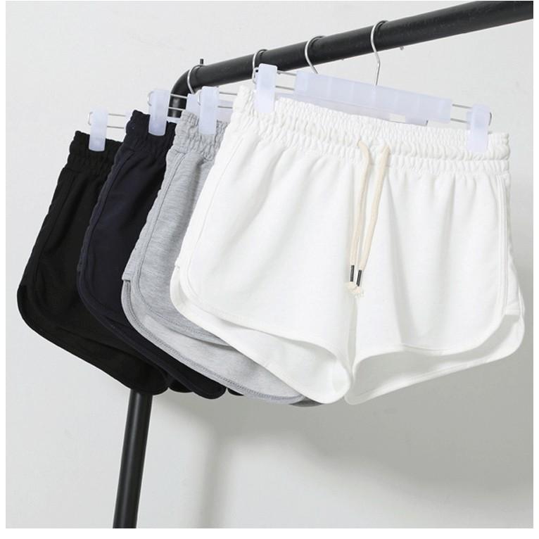 新色上市6 色現 純棉薄款 短褲跑步高腰熱褲寬鬆休閒褲睡褲寬版鬆緊帶舒服