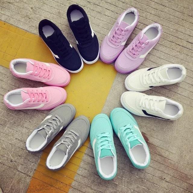 透氣 鞋女 百搭 阿甘跑步鞋潮板鞋平底女鞋單鞋平底鞋球鞋 鞋慢跑鞋娃娃鞋豆豆鞋休閒鞋懶人鞋
