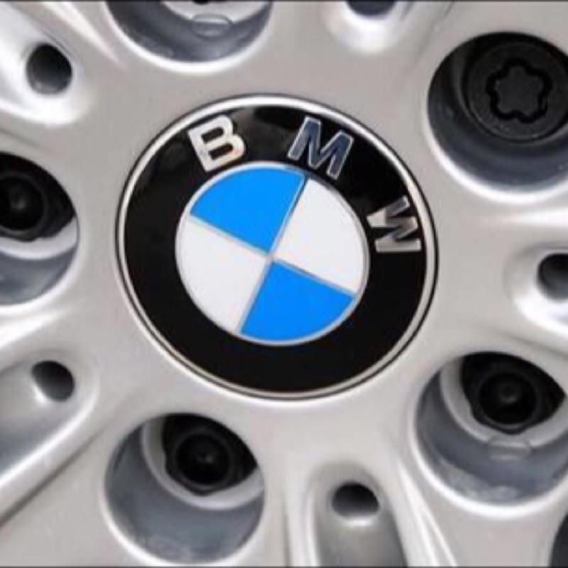BMW 鋁圈輪圈中心蓋貼紙標誌貼標65MM E28 E30 E34 E36 E38 E39