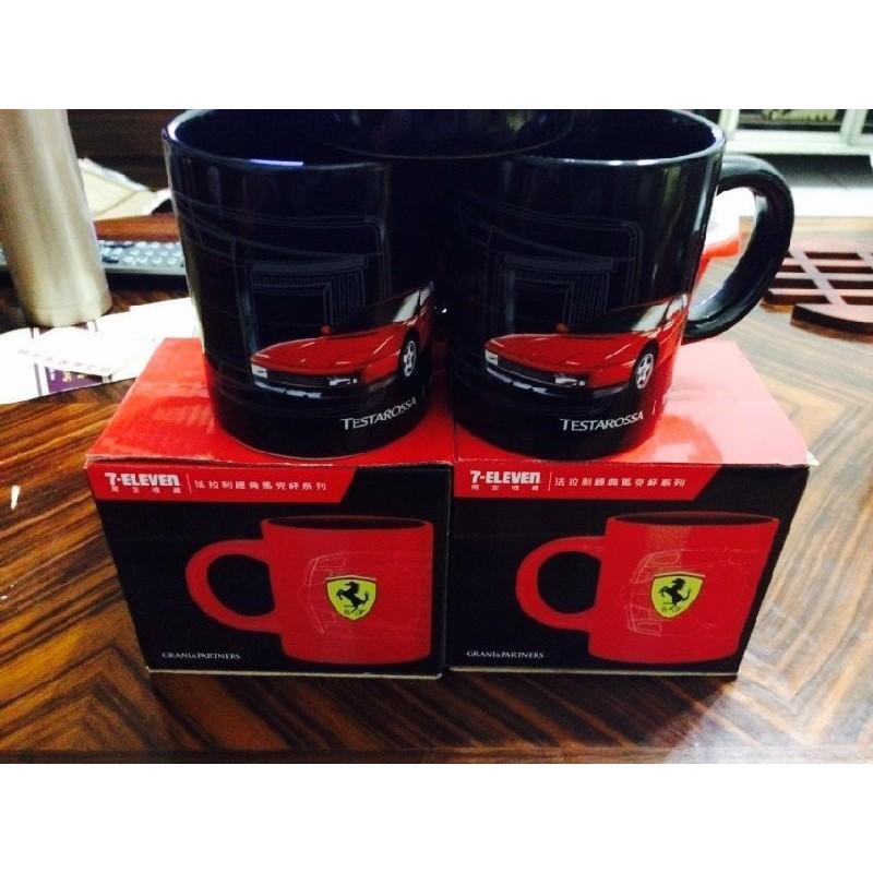 A017 超 便利 7 11 法拉利馬克杯咖啡杯盤陶瓷杯 裝飾啤酒杯水杯150
