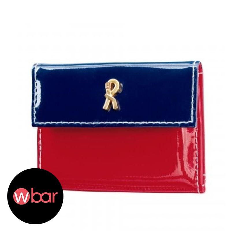 ROBERTA DI CAMERINO 紅藍迷你錢包皮夾零錢包