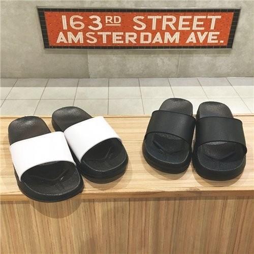 拖鞋 男生涼拖鞋一字拖黑白款潮流  GD 高 滿999 元R0533