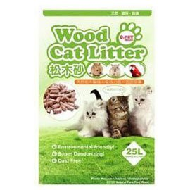 COCO ~限貨運配送~ Q PET 環保松木砂木屑砂25L 大包裝貓˙兔˙鼠˙刺蝟等小動