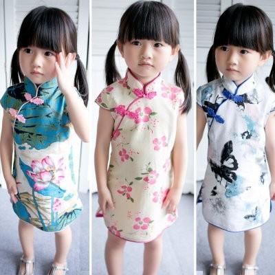 ღ瑪琪朵小舖ღ2016  女童中式復古唐裝中國風女生都要有一件寶寶旗袍連衣裙