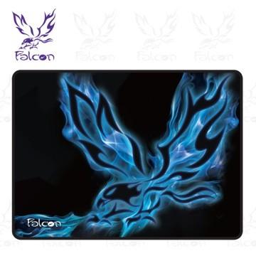 正品Falcon 電競滑鼠墊藍科技纖維布面鼠墊天然防滑橡膠底墊