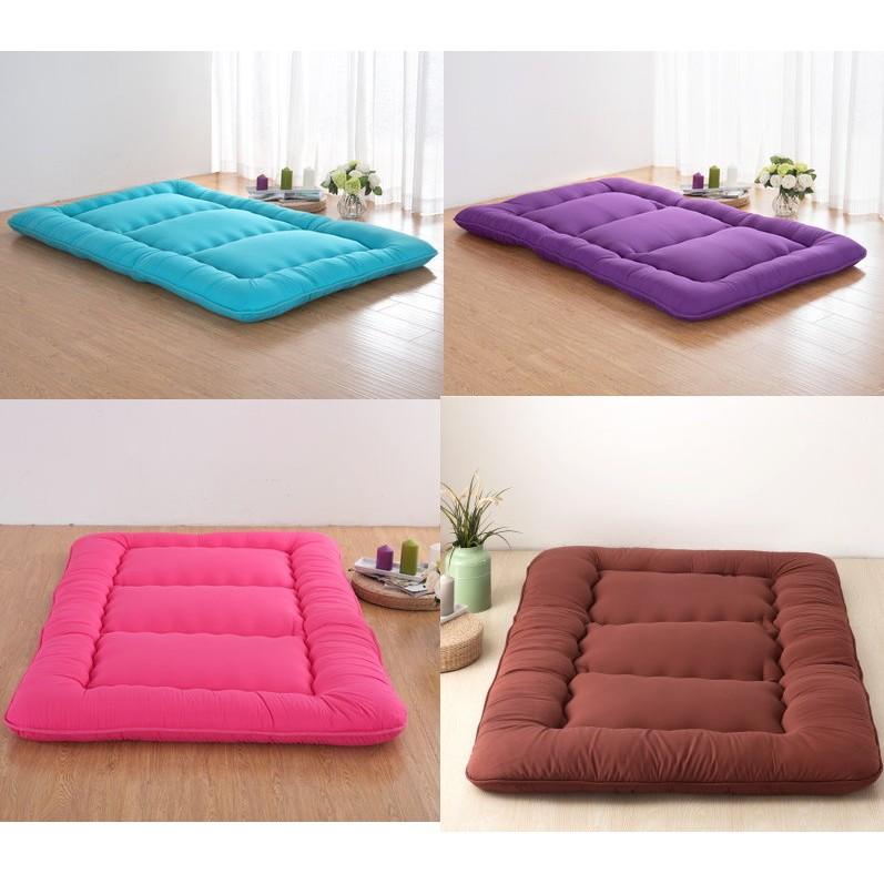 日式雙人加厚保暖榻榻米地舖睡墊床墊褥1 5m1 8m 折疊單人宿舍加厚1