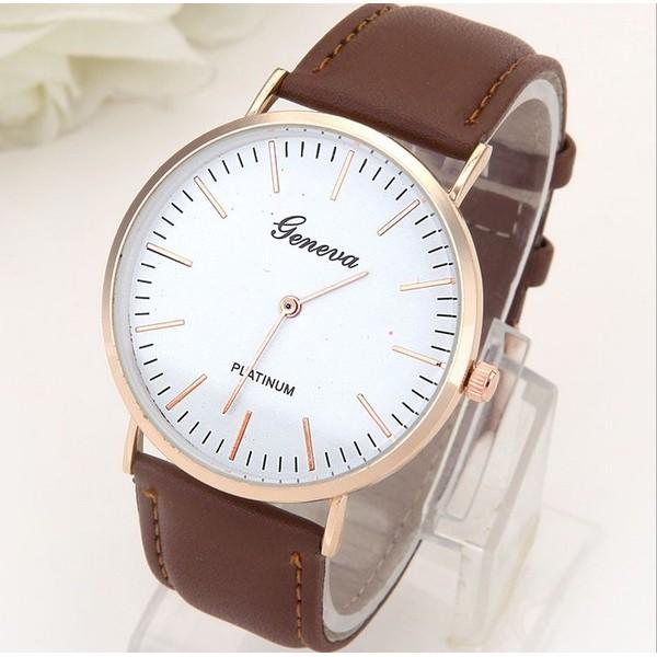 日內瓦超薄皮錶簡約刻度類似DW 情侶對錶 中