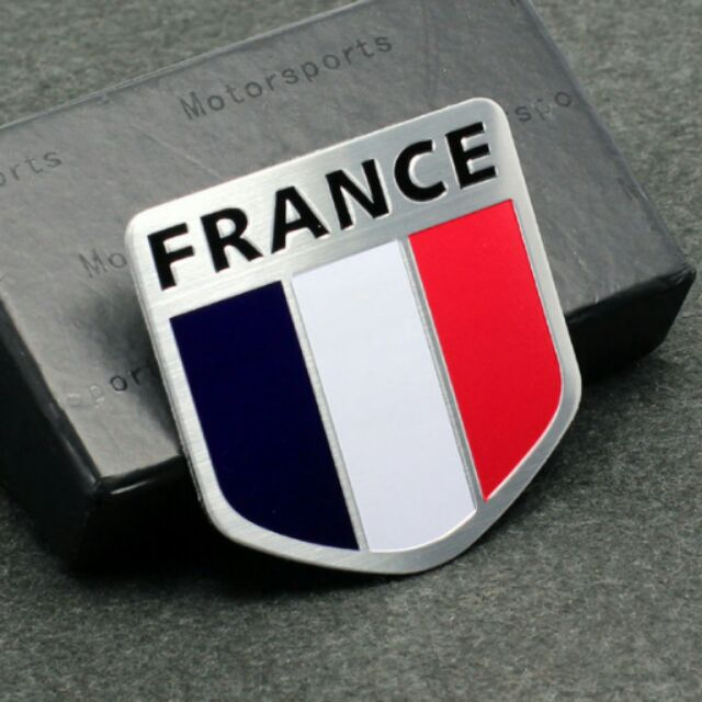 FRANCE 法國盾型金屬車貼Renault peugeot