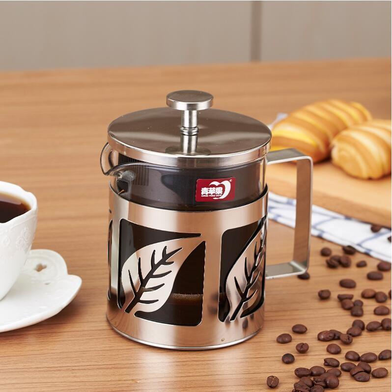 玻璃法壓壺不鏽鋼手沖咖啡壺家用法式濾壓壺咖啡過濾杯耐熱沖茶器都市方圓