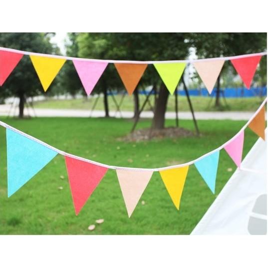 繽紛色彩不織布裝飾三角旗生日派對露營野餐派對慶生小物生日 生日