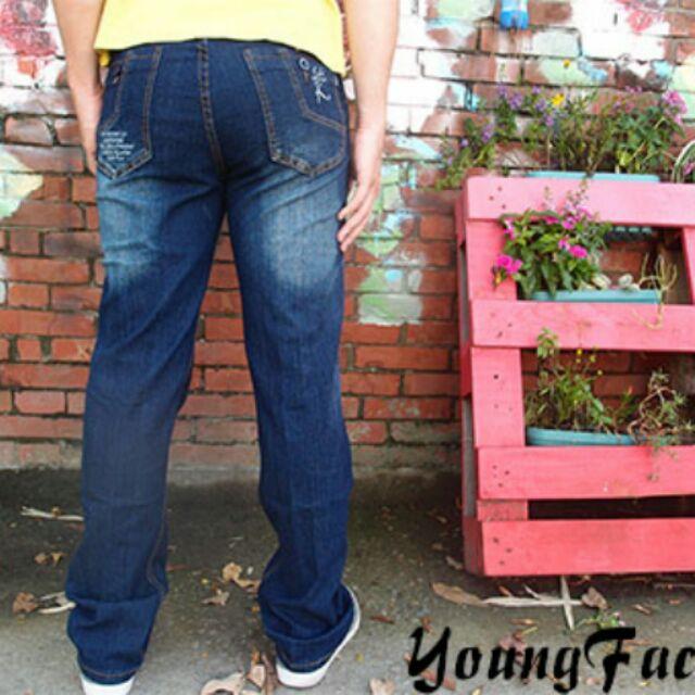 小工廠~2919 ~ 256 元牛仔褲前彎袋伸縮款百搭刷色中直筒工作外出都好穿舒適耐磨
