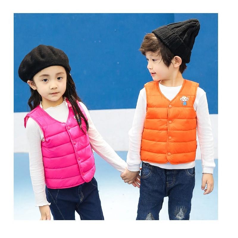 兒童寶寶雙面穿兩色鴨絨羽絨背心