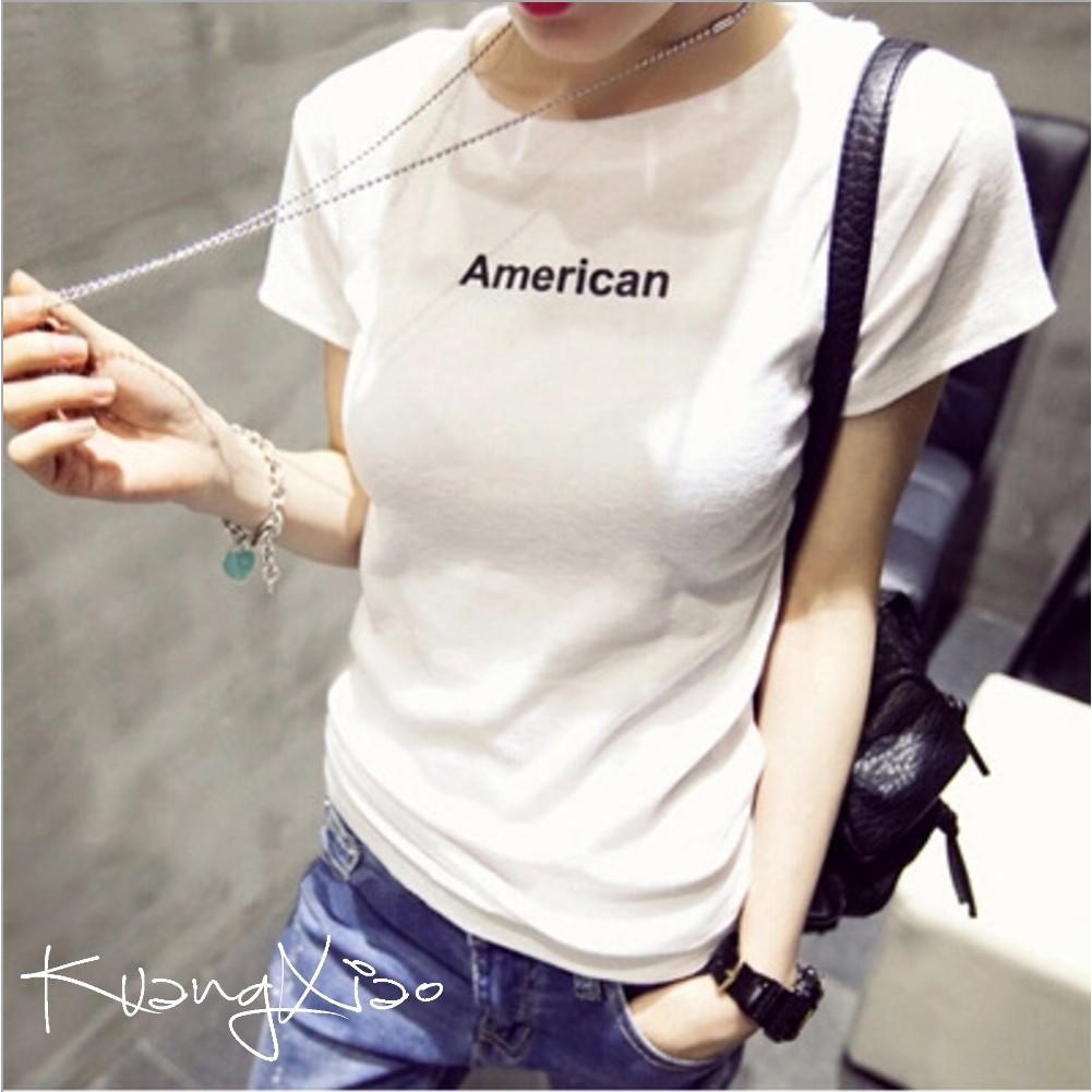 KX ~ 百搭短袖T 恤簡約英文印字短袖上衣~M XXL ~春夏 女裝女生衣著 風Kuan