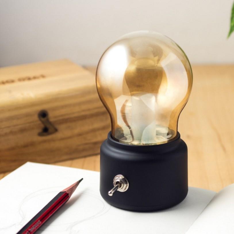 復古USB 充電燈泡燈BULB LAMP 裝飾檯燈床頭燈