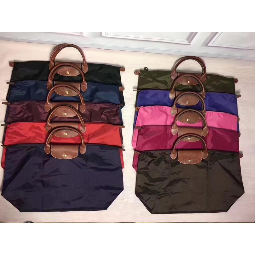 正品 Longch 1624 短柄大號手提 袋超大容量媽咪包行李包收納包10 色手提包女包