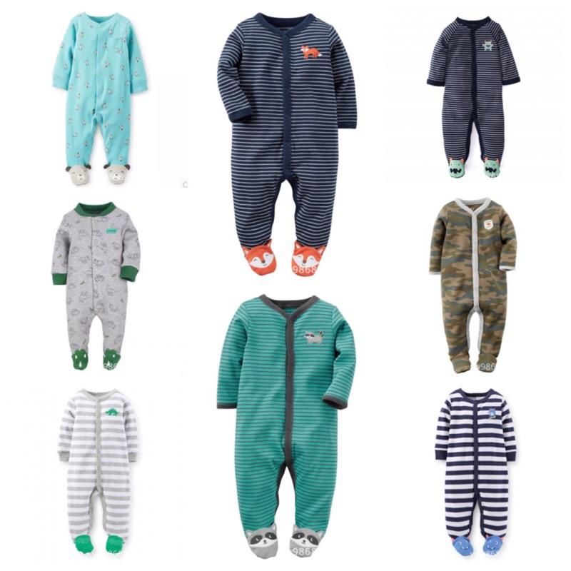 美國卡特Carter s 純棉薄款包腳長袖連身衣嬰兒寶寶幼兒 哈衣爬爬衣兔裝前釦連身裝