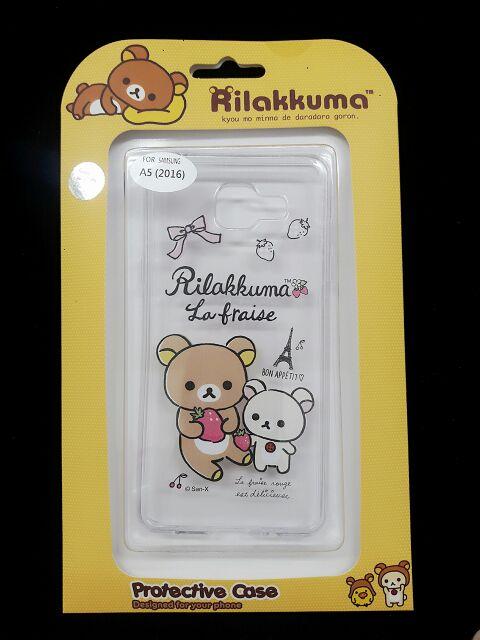Samsung 2016 A5 拉拉熊海賊王卡通背蓋手機殼