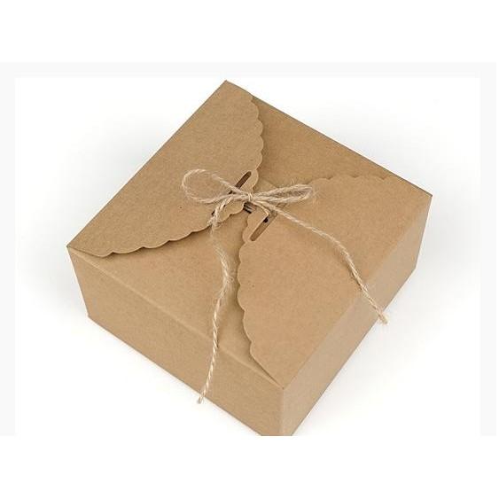 牛皮紙盒烘焙包裝花邊波浪邊盒蛋糕盒月餅幕斯盒喜糖盒 送禮 包裝