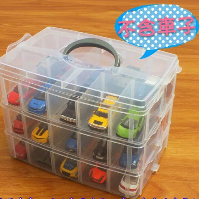 特大號玩具停車場收纳盒多層小車庫多美卡風火輪美泰汽車玩具不含車子