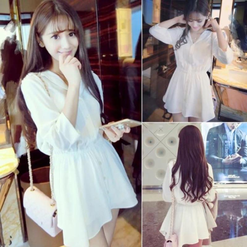 春裝裙學院風 甜美氣質小香風顯瘦衫緊腰連衣裙短裙