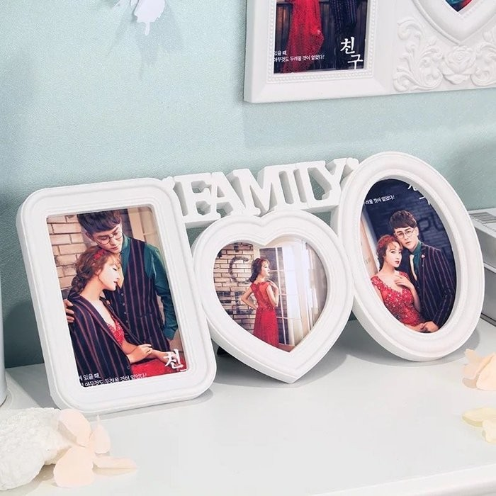 ~Wedhappy 婚禮小物居家佈置掛飾~3 框~歐式相框相片牆FAMILY 199 元