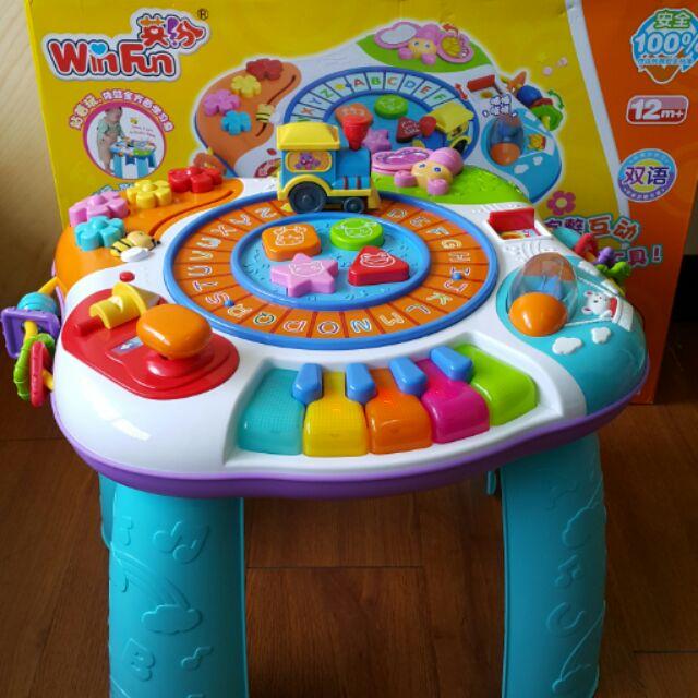WinFun 英紛字母樂園學習桌多 雙語遊戲桌費雪