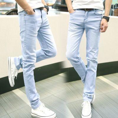 潮流單品2016 男士牛仔褲復古潮流小腳修身型彈力男褲 青少年學生長褲子