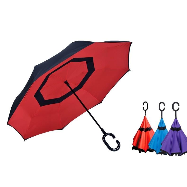 反向傘雨傘C 型免持手把雨傘超強防風雨傘防風傘雙層傘遮陽傘晴雨傘反收傘