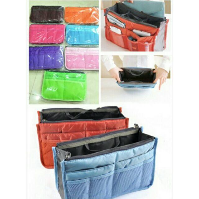 顏色都有喲 大容量多層拉鍊式收納包中包