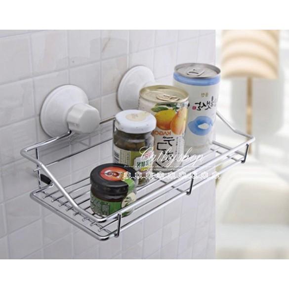 魔力環廚房衛浴兩用金屬置物架收納架調味罐牆上收納W013