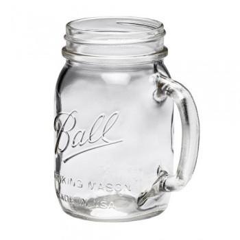 美國Ball MASON 梅森玻璃馬克杯不含蓋窄口16oz 1 入