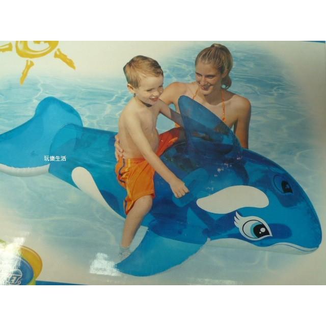 玩樂 美國INTEX 58523 藍色小鯨魚充氣坐騎動物 坐騎有手把夏天玩水游泳戲水 大游