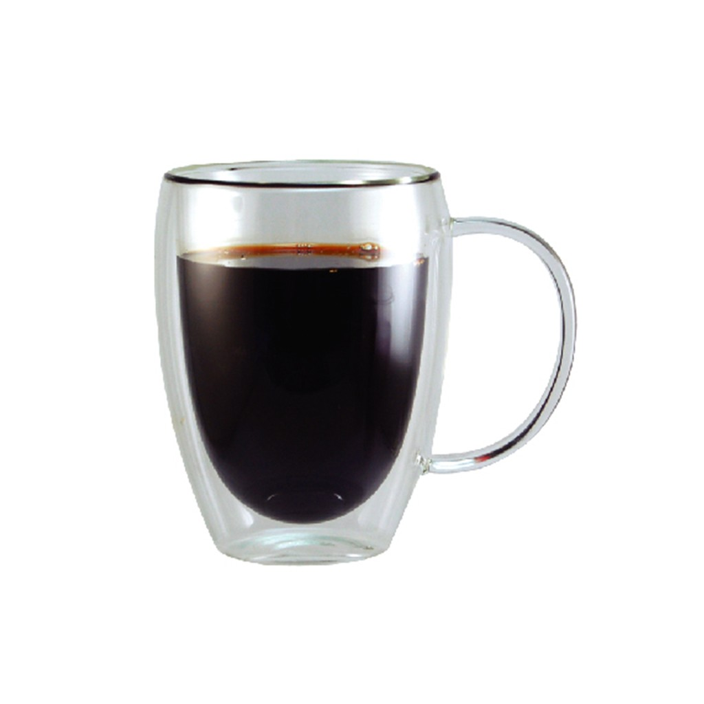 GLASSHOUSE 360ml 玻璃有柄雙層杯咖啡杯