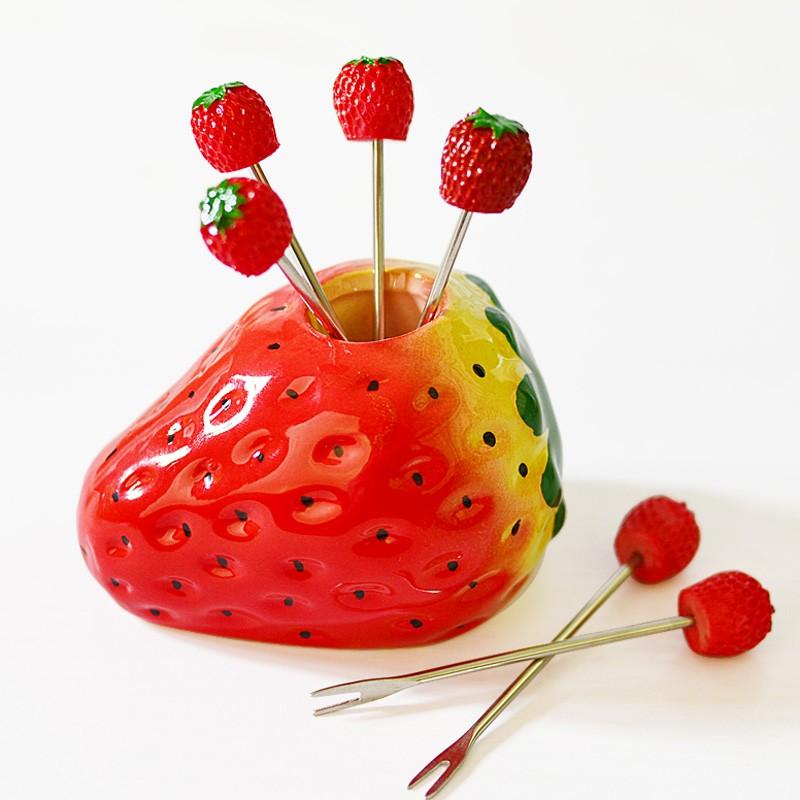 Nana Lili 雜貨 ~ 草莓 水果叉組
