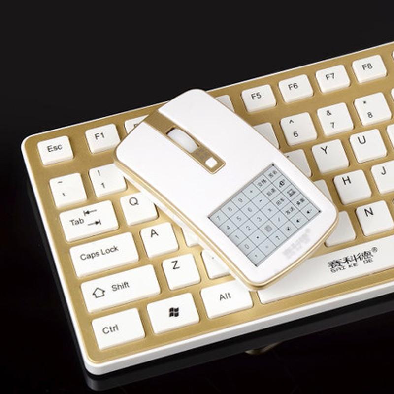 賽科德K6plus 無線游戲鍵盤鼠標套裝手寫靜音省電超薄平板