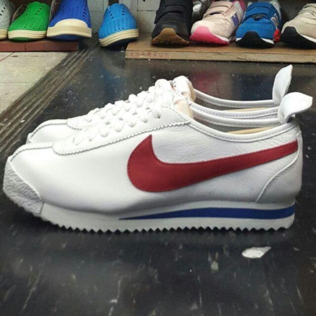 NIKE WMNS CORTEZ 72 白色全白紅色紅勾藍色阿甘鞋皮革復古 款慢跑鞋847