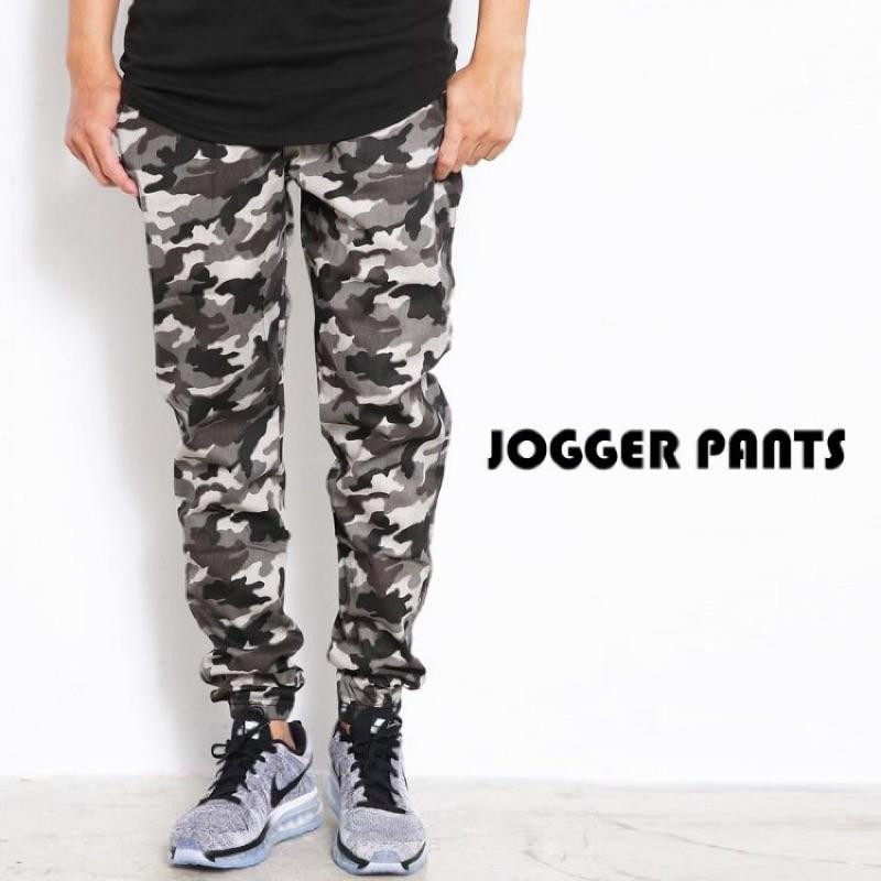 JOGGER PANTS 升級版抽繩腰圍縮口褲慢跑褲束口褲迷彩素面