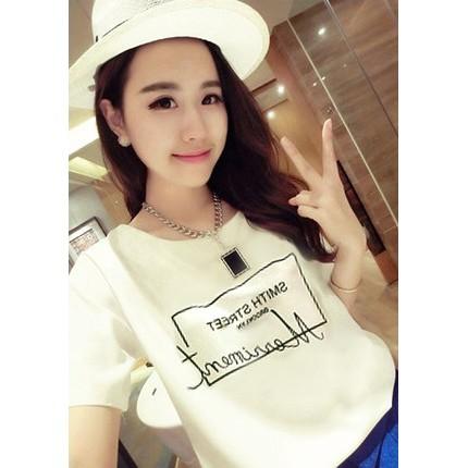 百搭修身白色寬鬆顯瘦短袖T 恤MKC0002