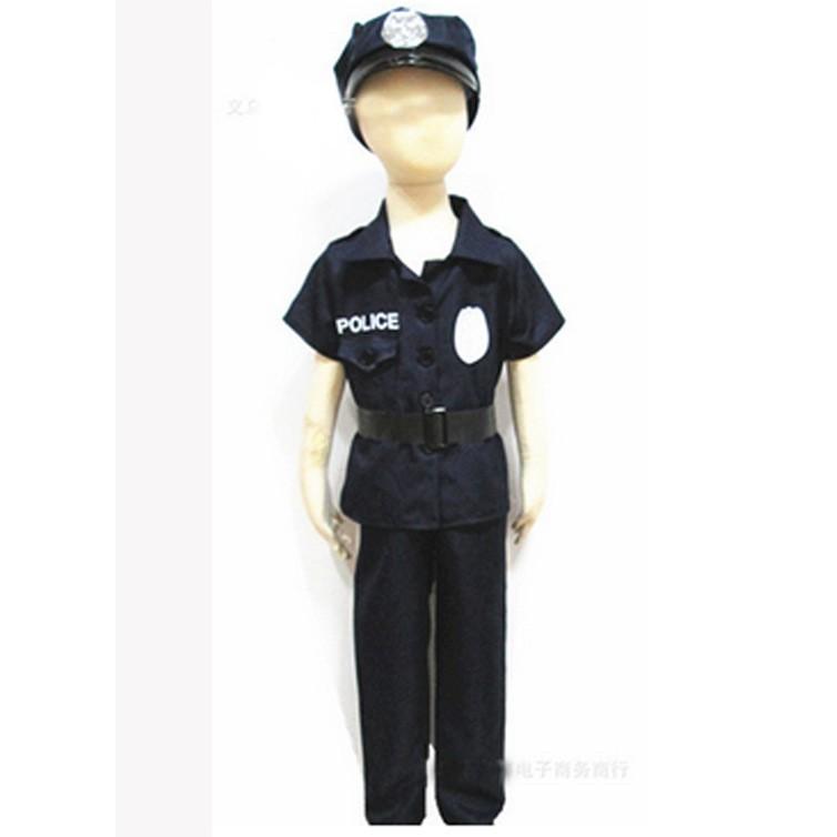 萬聖節兒童警察服節日演出化妝舞會扮演警務角色服飾