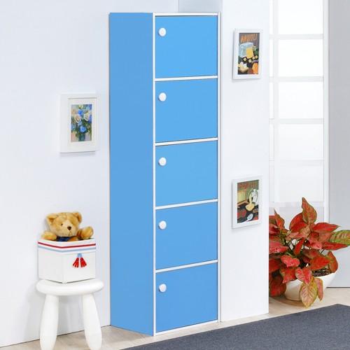 MIT 粉彩五門收納櫃置物櫃白色藍色粉紅含運799