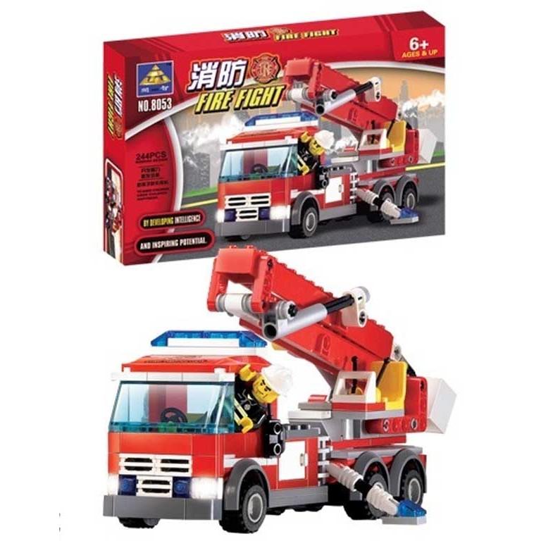 開智8053 消防系列消防雲梯車非樂高LEGO 積木可與LEGO 相容